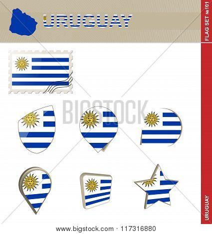 Uruguay Flag Set, Flag Set #101