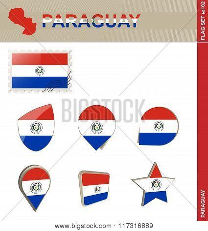 Paraguay Flag Set, Flag Set #102
