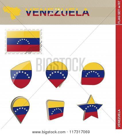 Venezuela Flag Set, Flag Set #107
