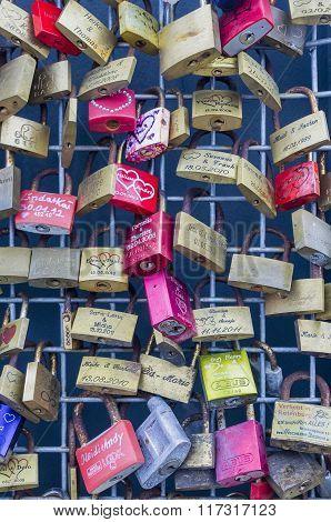 Locks with newlyweds names