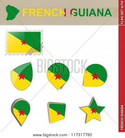 French Guiana Flag Set, Flag Set #110