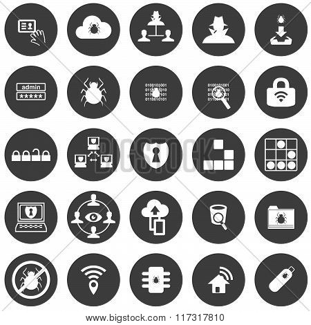 Information Security Threats Icon Set