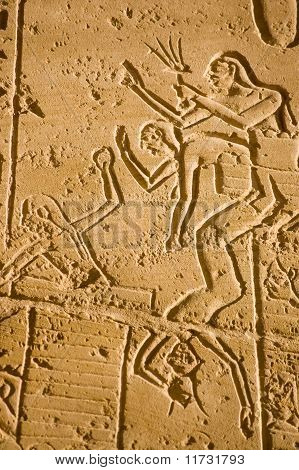 Siege fighting, Kadesh.  Ramesseum