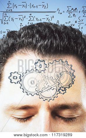 Man Decides Equation In Mind