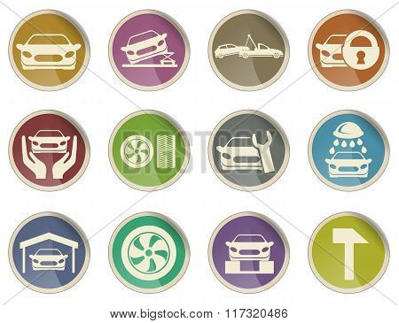 car srvice icons