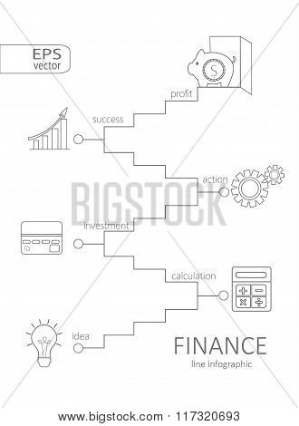 Infographic finance concept.