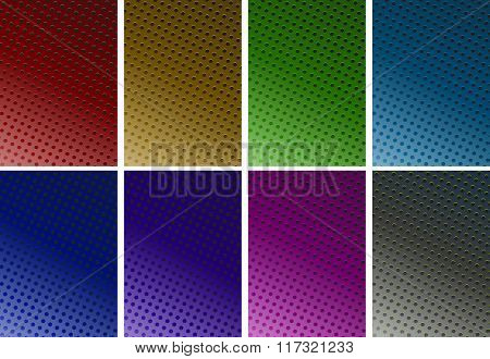 Background design with dots in six colors illustration