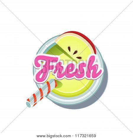 Apple Fresh. Vector Illustration