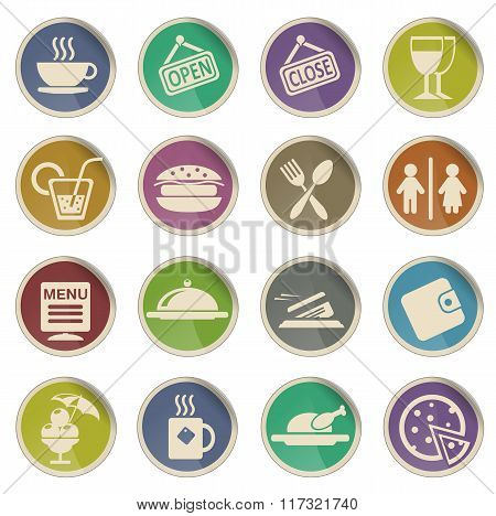Cafe Silhouette Icons