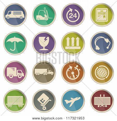cargo shipping icons