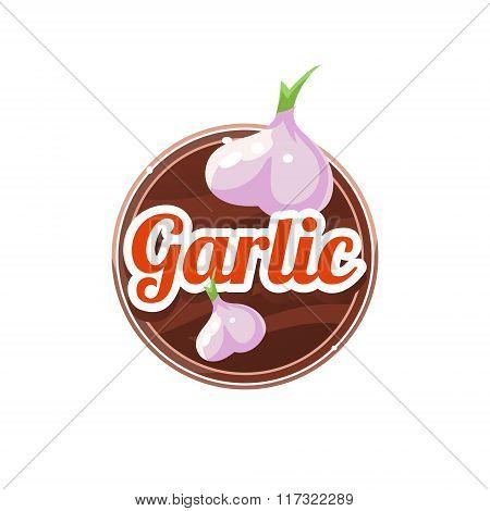 Garlic Spice. Vector Illustration.