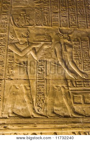 Pharaoh and Apis the bull god