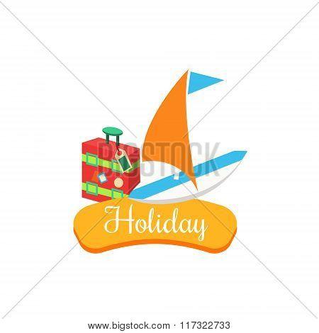 Holiday. Summer Vacation. Vector Illustration