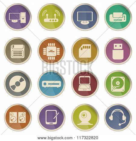 Computer equipment icons