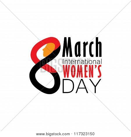 Hand Drawn Number 8 For International Womans Day Vector Graphic