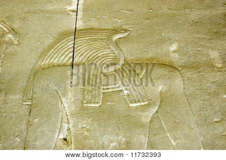 Ancient Egyptian Snake God carving