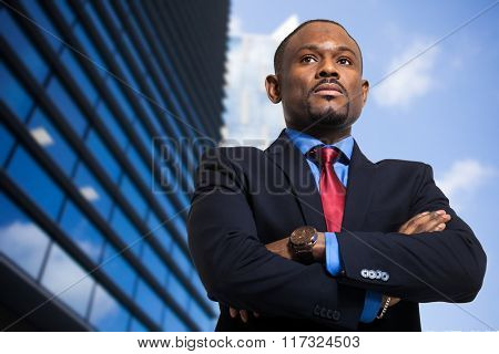 African businessman outdoor