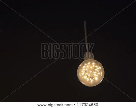 Led Ceiling Light On Black Color Background