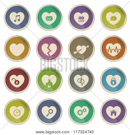 Heart simply icons