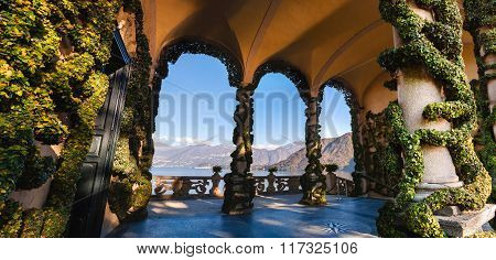The park of Villa Balbianello in Lenno Lake Como Italy
