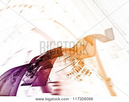 Abstract background element in purple, yellow and white colors