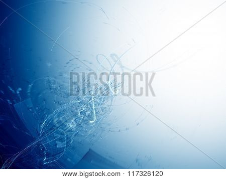 Abstract background element in blue and white colors