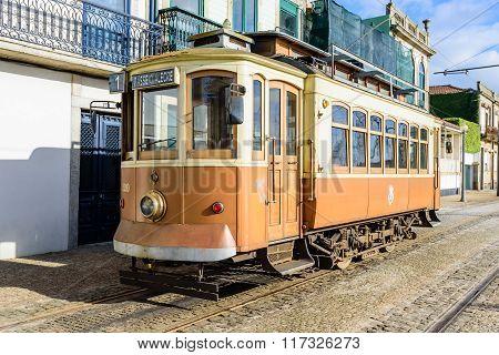 Vintage Old Retro Tram