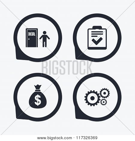 Human resources and Business. Checklist document