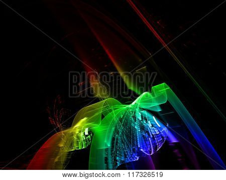 Abstract background element toned with rainbow gradient