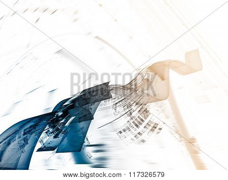 Abstract background element in blue, yellow and white colors