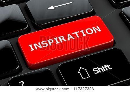 Inspiration, On Computer Keyboard Background