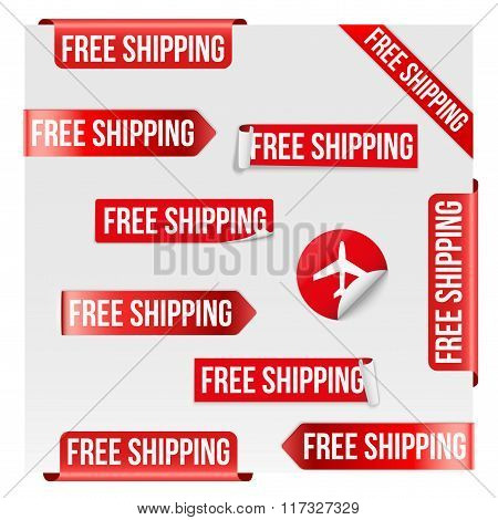 Free Shipping Red Label Design