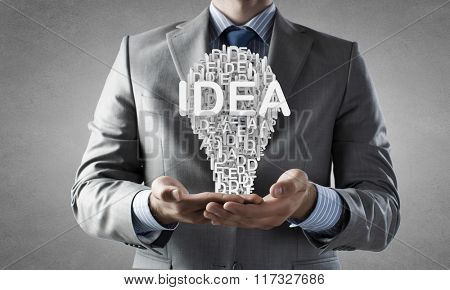 Man presenting idea