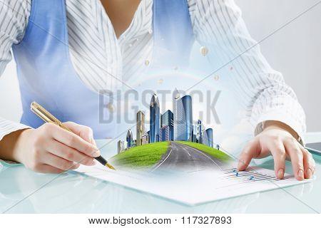 Modern city development design