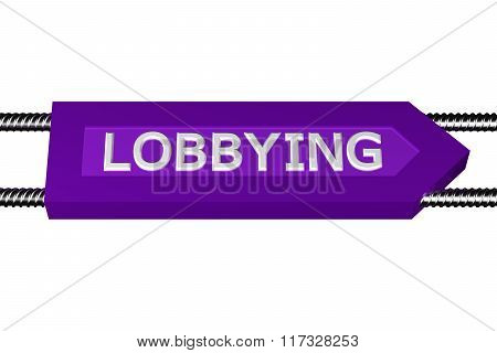 Word Lobbying Written On The Arrow