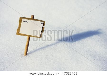 Plate In The Snow