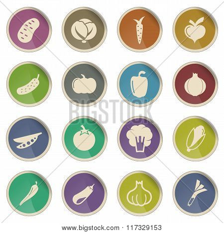 Vegetables simply icons