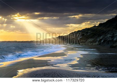 Coastline at sunset