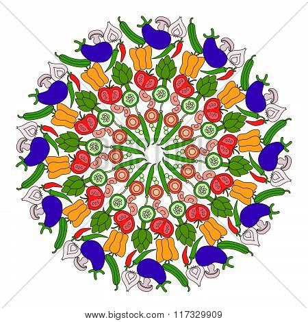 Vegetables Mandala