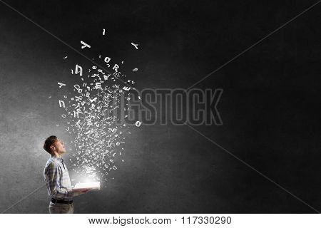 Guy with book in hands