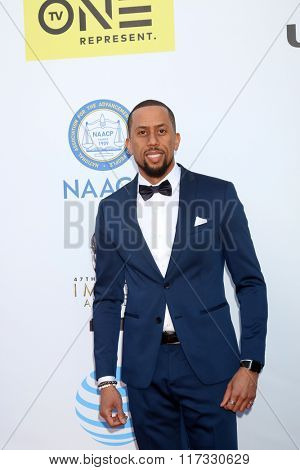 LOS ANGELES - FEB 5:  Affion Crockett at the 47TH NAACP Image Awards Arrivals at the Pasadena Civic Auditorium on February 5, 2016 in Pasadena, CA