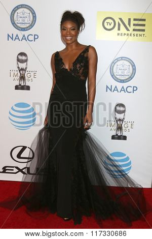 LOS ANGELES - FEB 5:  Gabrielle Union at the 47TH NAACP Image Awards Arrivals at the Pasadena Civic Auditorium on February 5, 2016 in Pasadena, CA