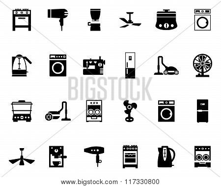 Domestic Equipment Black And White Icons