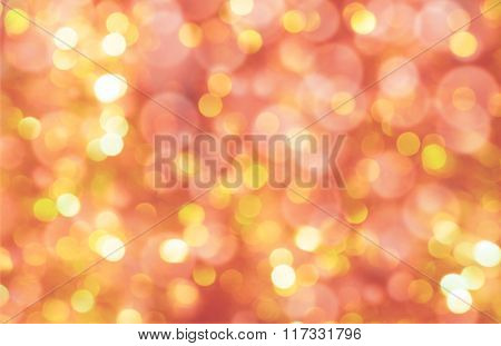colorful abstract bokeh background, golden color