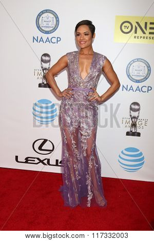 LOS ANGELES - FEB 5:  Grace Gealey at the 47TH NAACP Image Awards Arrivals at the Pasadena Civic Auditorium on February 5, 2016 in Pasadena, CA