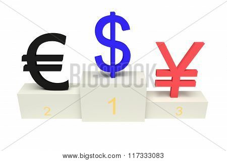 top currencies, strong US Dollar, isolated