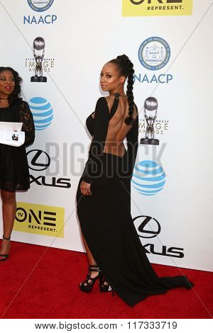 LOS ANGELES - FEB 5:  Monique Coleman at the 47TH NAACP Image Awards Arrivals at the Pasadena Civic Auditorium on February 5, 2016 in Pasadena, CA