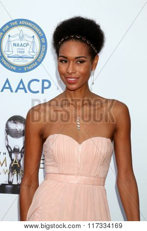 LOS ANGELES - FEB 5:  Katie Rost at the 47TH NAACP Image Awards Arrivals at the Pasadena Civic Auditorium on February 5, 2016 in Pasadena, CA