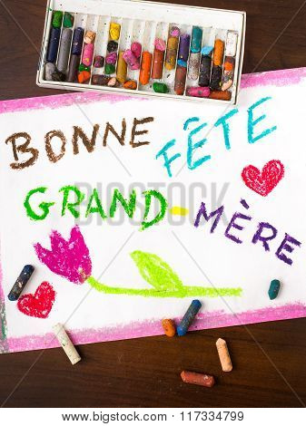 French grandmothers day card