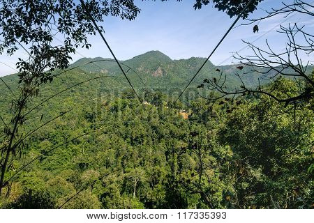 The longest zipline in the mountain, Thailand